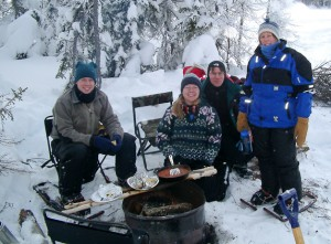 Ice Fishing with Friends In Yellowknife