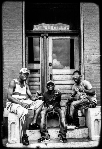 Cincinnati Portrait of three young men