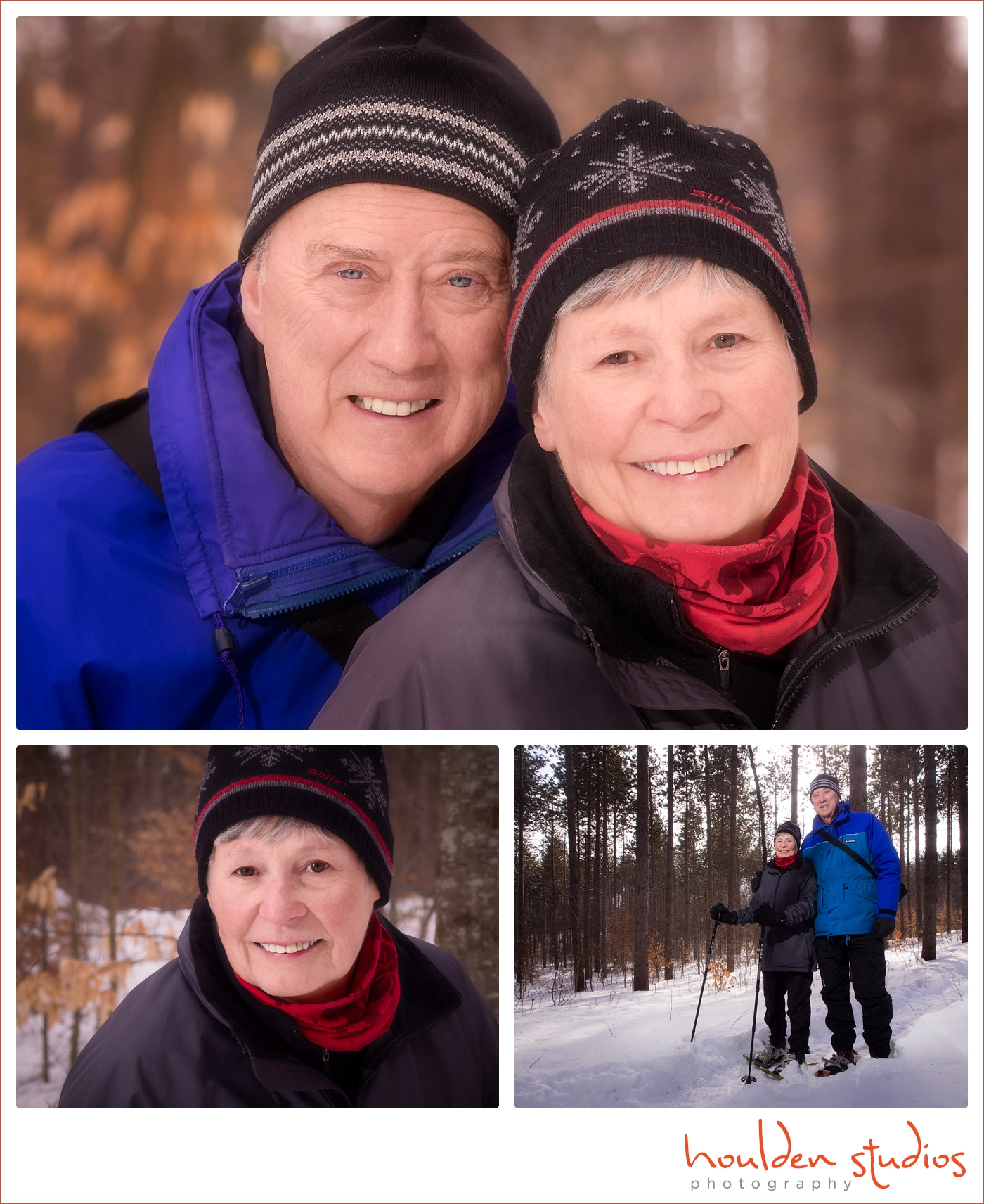 Winter Portraits of Carolyn and Stephen